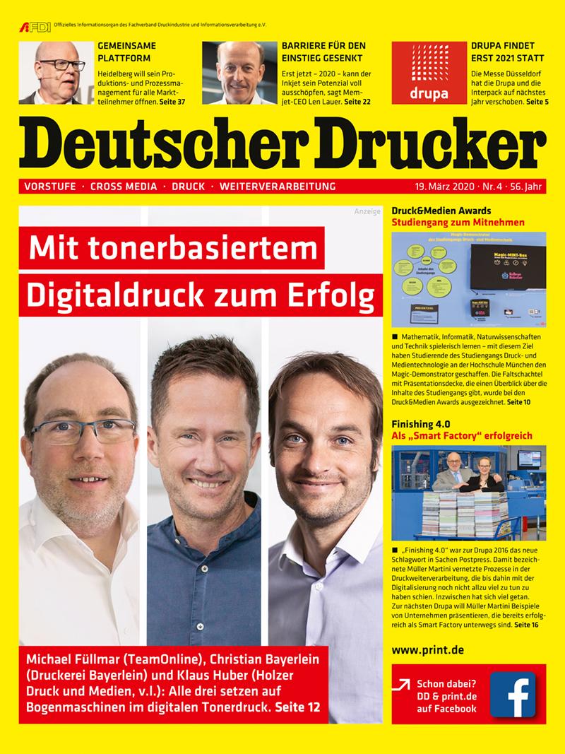 Produkt: Deutscher Drucker 4/2020 Digital