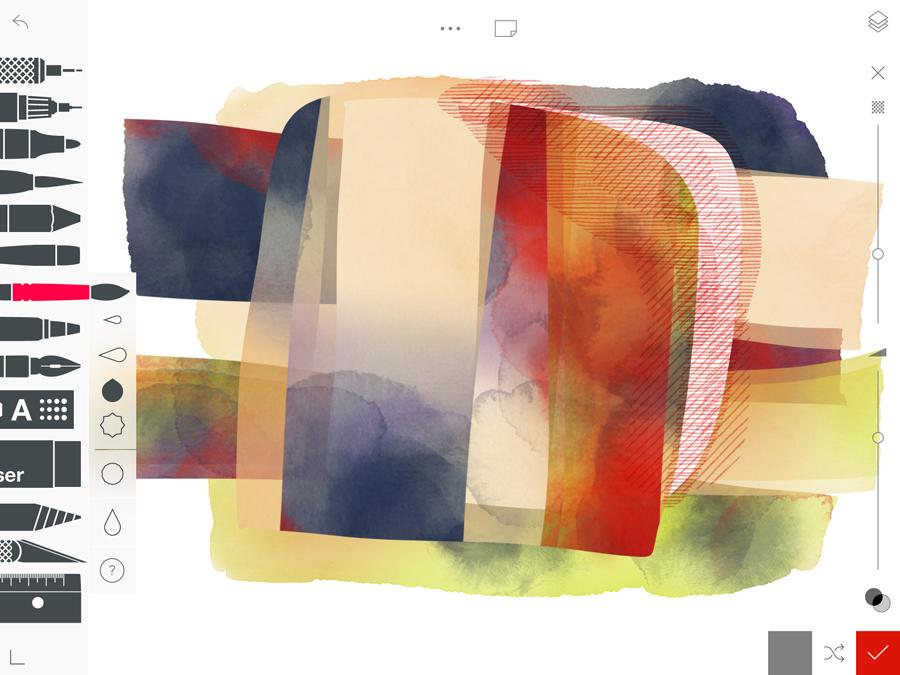 Mediendesign: Tablettaugliche Kreativ-Apps wie Tayasui Sketches Pro sind inzwischen durchaus auch für Profi-Anwender interessant.