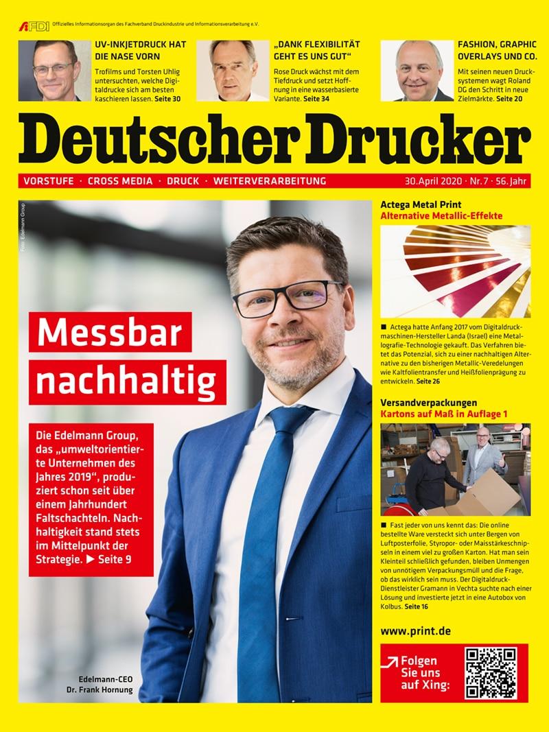 Produkt: Deutscher Drucker 7/2020 Digital