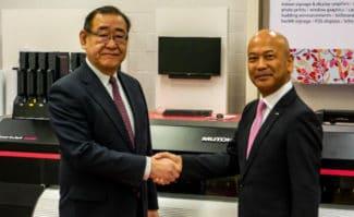 Mutoh Kenji Yasuhara und Mitsuo Takatsu neuer Geschäftsführer