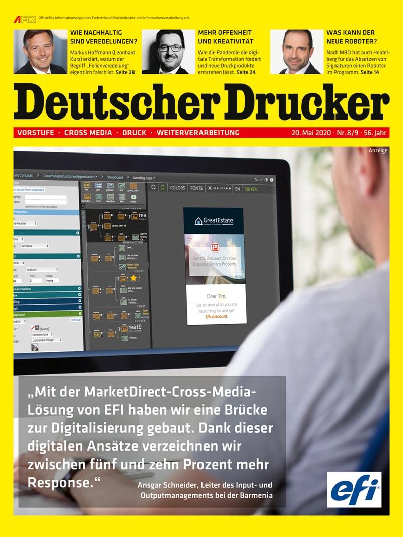 Produkt: Deutscher Drucker 8-9/2020 Digital