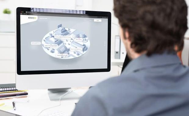 Druckindustrie: Der neue »Innovation Hub« von Esko soll Nutzern die Möglichkeit bieten, das Portfolio an neuen und aktualisierten Produkten in einer virtuellen Umgebung zu erkunden.
