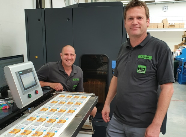 HED GmbH Haftetikettendruck investiert in eine HP Indigo 6900 Digitaldruck Etikettendruck