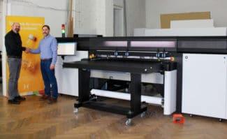 Klapperts BildWerbung investiert in HP Latex R1000 Hybriddruck Großformatdruck Inkjet Digitaldruck