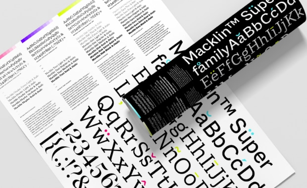 Monotype neue Schriftenfamilie Macklin Fonts Typografie Druckvorstufe Mediengestalter