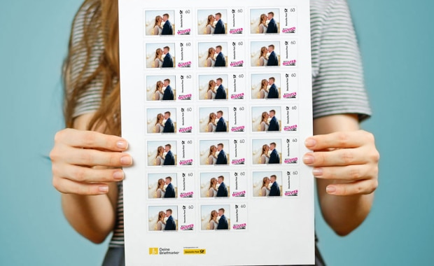individualisierte Briefmarke von MyPostcard und Deutsche Post Digitaldruck Individualisierung