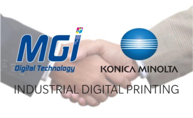 MGI und Konica Minolta erweitern Partnerschaft Digitale Druckveredelung Digitaldruck