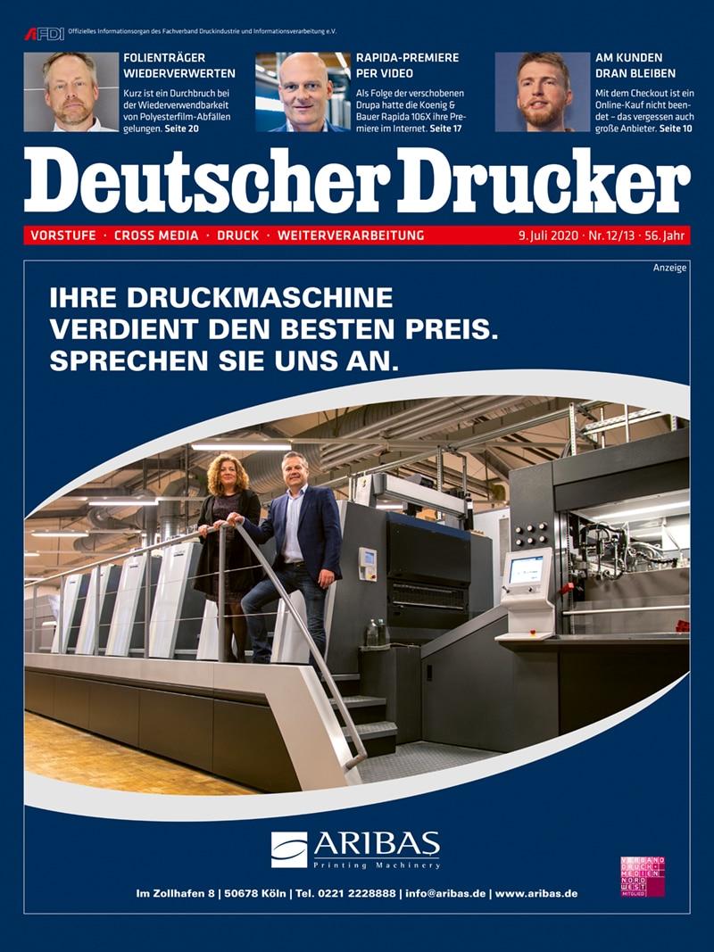 Produkt: Deutscher Drucker 12-13/2020 Digital
