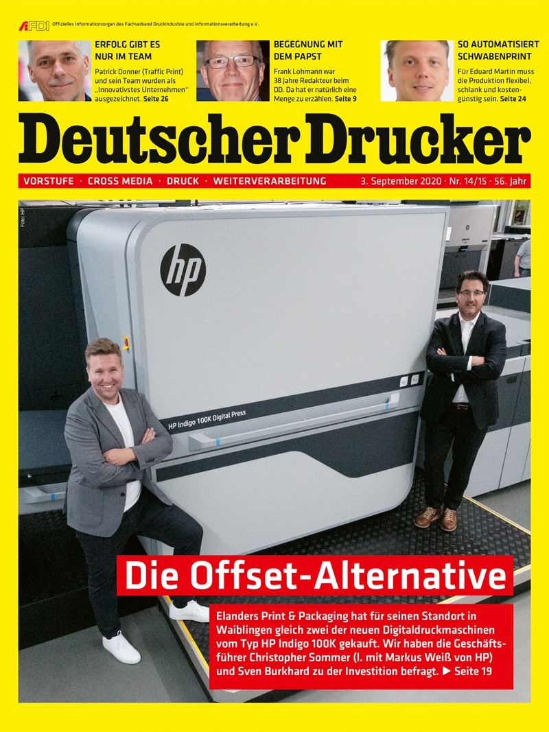 Produkt: Deutscher Drucker 14-15/2020