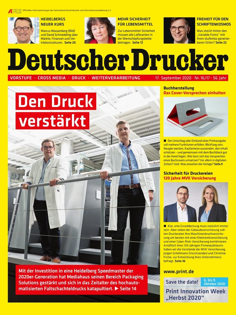 Produkt: Deutscher Drucker 16-17/2020