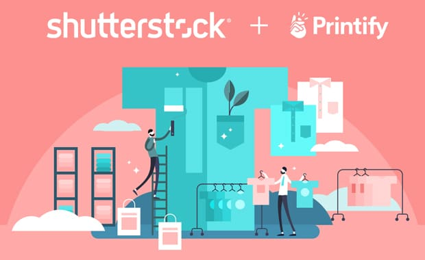 Dank einer strategischen Kooperation mit der Bilddatenbank Shutterstock ermöglicht das global agierende Print-on-Demand-Netzwerk Printify seinen Gewerbekunden zusätzliche Kreativ-Optionen im individuellen Illustrationsbereich.