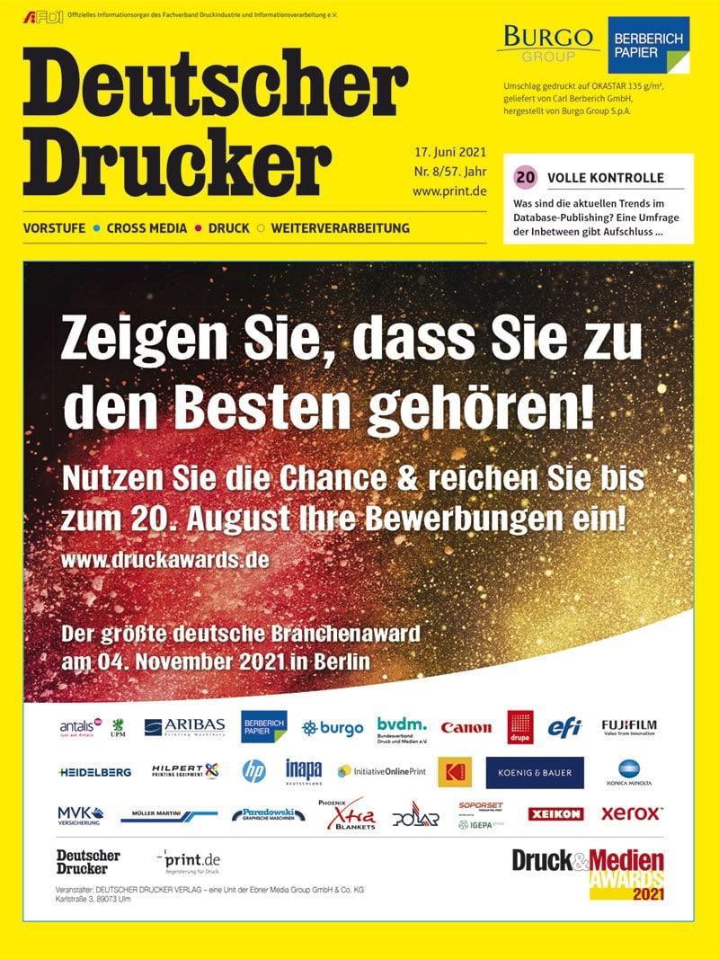 Produkt: Deutscher Drucker 8/2021