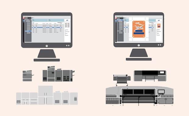 Die EFI Fiery Command Workstation ist im Digitaldruck gleichermaßen für digitale Bogendruckmaschinen wie auch für Groß- und Supergroßformatdrucker einsetzbar.
