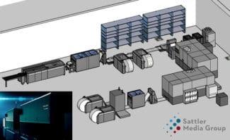 Die Ricoh Pro VC70000 (samt Tecnau-Finishing) erweitert die Digitaldruck-Kapazitäten der Sattler Media Group am neuen Standort Bad Oeynhausen.