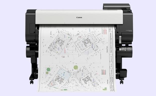 Large Format Printing: Der Canon imagePrograf TX-4100 ist mit 44 Zoll Breite der größte Large-Format-Printer aus der TX-Serie, die Canon in diesem Monat für die schnelle, hochauflösende CAD- und Poster-Produktion auf den Markt gebracht hat.