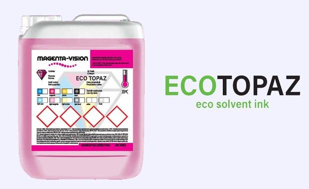 Large Format Printing: Die neuen Eco-Topaz-Tinten stehen optional in Gebinden zu jeweils einem Liter oder als Kartuschen zur Verfügung.