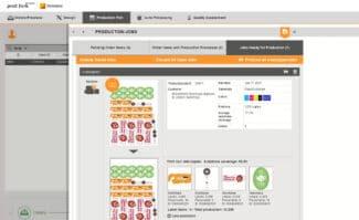 Druckindustrie: Benutzeroberfläche der Software Generate Print Form von One Vision.
