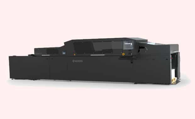 Druckveredelung: die Scodix Ultra 5000 Digital Enhancement Press (B2-Format).