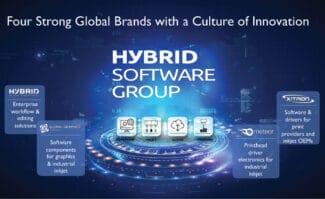 Druckindustrie: Die Geschäftsbereiche der Hybrid-Software-Gruppe.