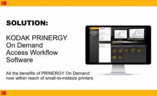Druckindustrie: Ab 2022 weltweit (außer in China) verfügbar: der cloudbasierte Kodak Prinergy-On-Demand-Access-Workflow für kleine bis mittelgroße Akzidenzdruckdienstleister.
