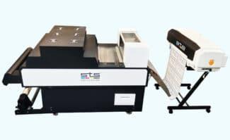Textildruck: Der neue, modular aufgebaute DtF-Textildrucker STS VJ-628D entstand in Kooperation von STS Europe und Mutoh Europe.